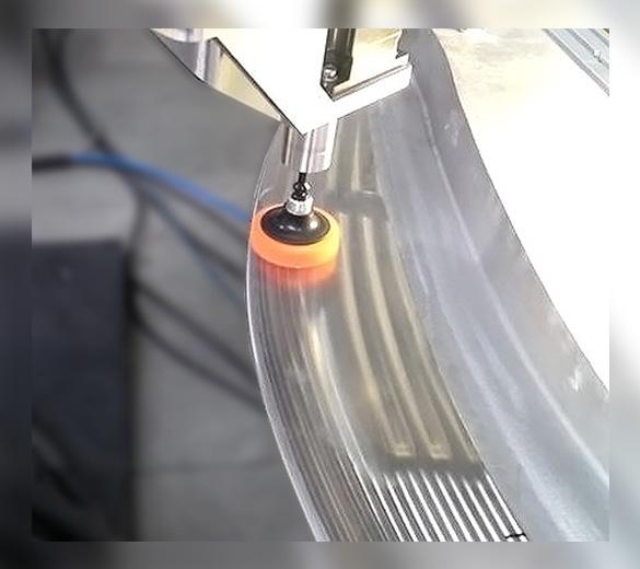 Polishing machining grooves on titanium - GEBE2