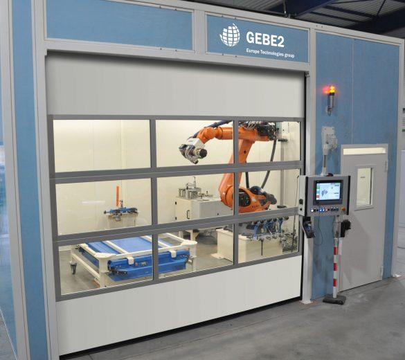 Metal sanding robot - aluminum alloy | GEBE2