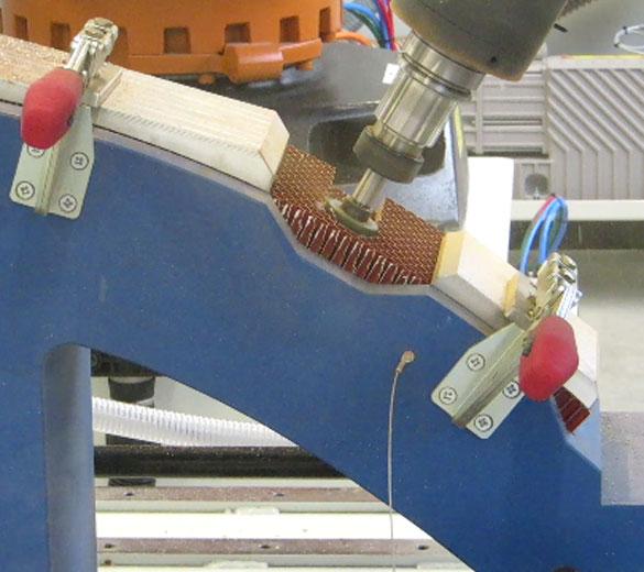 Robotic machining - Honeycomb cutting surfacing - GEBE2