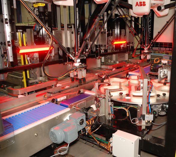 Encaissage panachage condtionnement robotisé - GEBE2