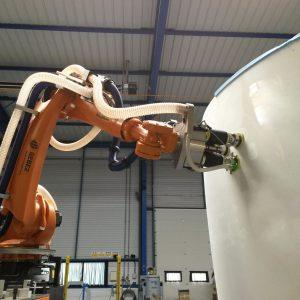 Ponçage robotisé composite nacelle avion - GEBE2