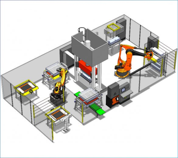 Robotic molding - preforming curing RTM - GEBE2