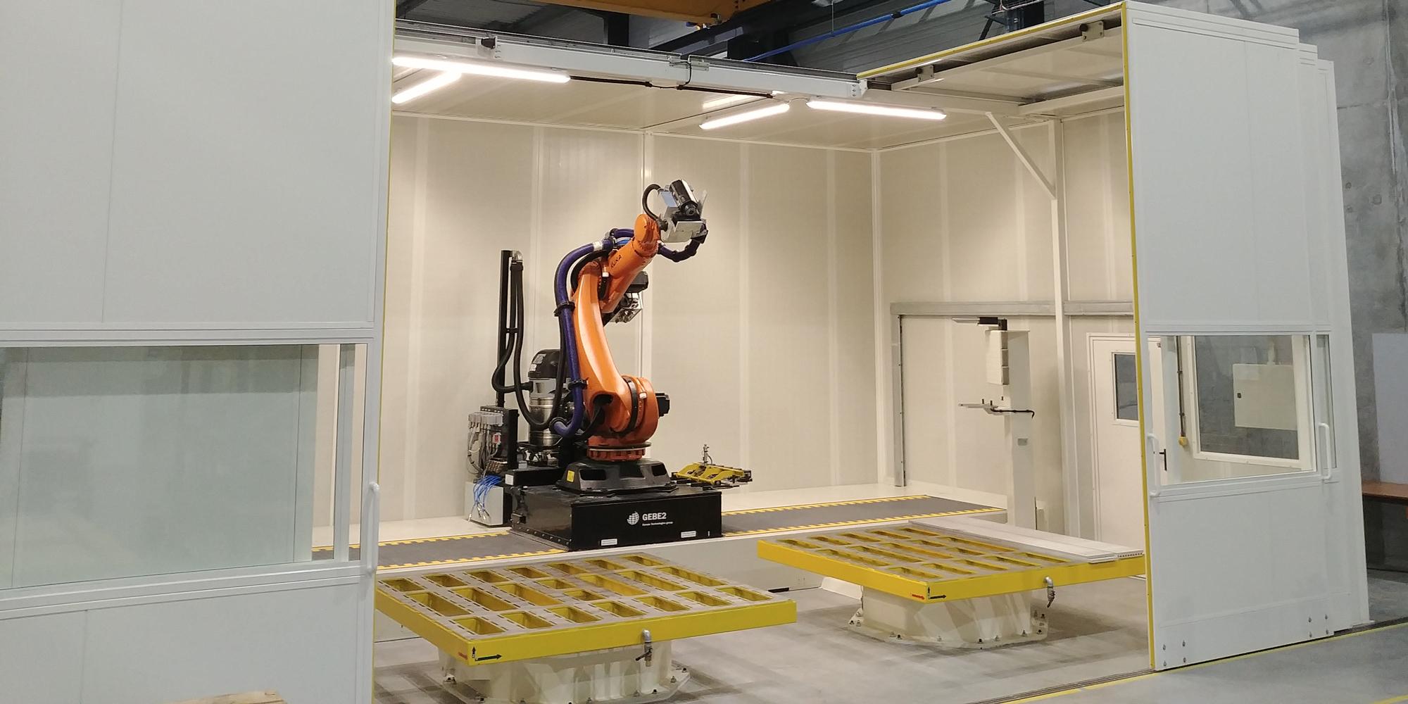Plateforme robotique - banc d'essais robotisé - démonstrateur grandes dimensions - GEBE2