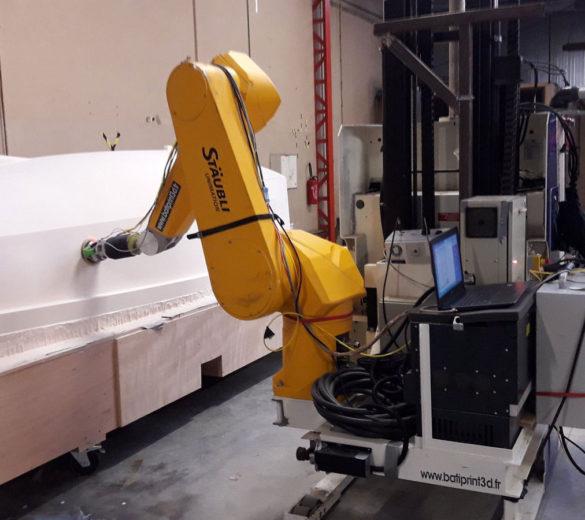 Robot mobile de ponçage - Coroma - GEBE2