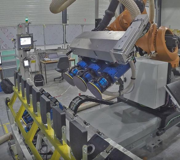 Ponçage robotisé - changement de disque - GEBE2