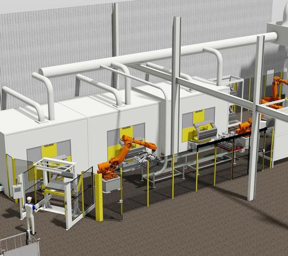 Intégrateur ligne de production automatisée - moulage et détourage - GEBE2