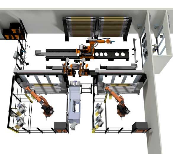 Ligne de production de bielles 3D - GEBE2