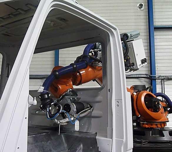 Ponçage robotisé cabine de camion
