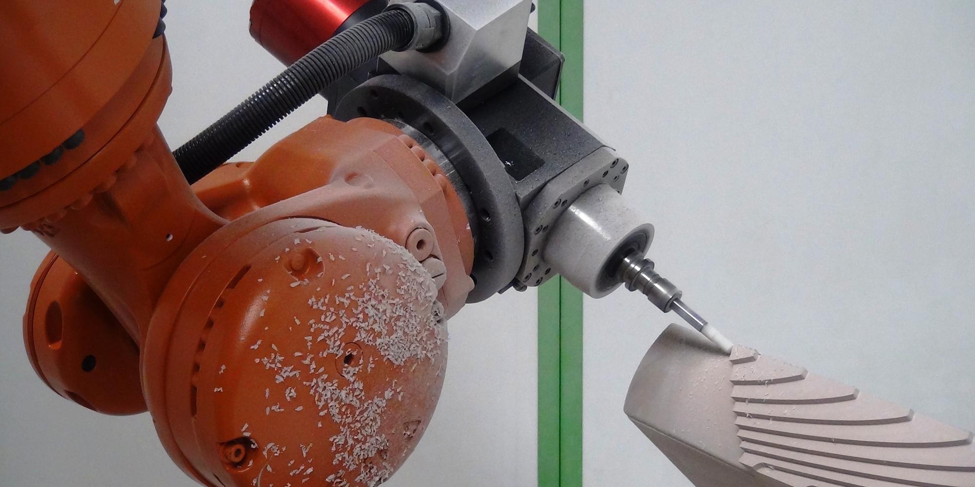 Robotic machining - composite machining - GEBE2